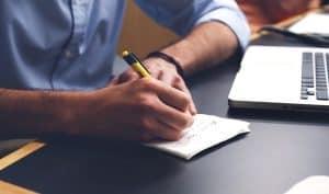 Atteindre ses objectifs : objectif exprimé à l'écrit et toujours visible